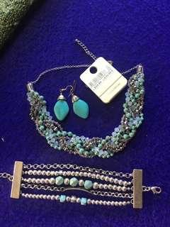 Turquoise jewellery set $20 the lot perth