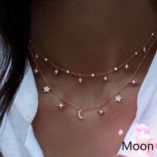 🚚 [PO] Multilayer Moon🌟💫 Choker