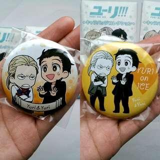 [OFFICIAL] Yuri On Ice Movic Button Badges - Yuri Plisetsky & Yuri Katsuki #CNYGA #CNY888