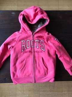 加拿大知名品牌Roots保暖毛毛連帽外套