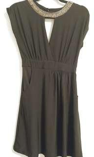Black Sleeveless Dress (Size: Small)