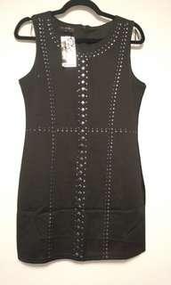Black Studded Dress (Size: Small)