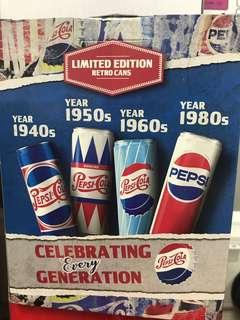 Limited edition Pepsi retro cans