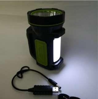 Portable Searchlight 30W Rechargeable Searchlight LED Outdoor Rechargeable Flashlight-Intl