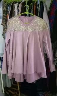 Embroided Beades Dusty pink top