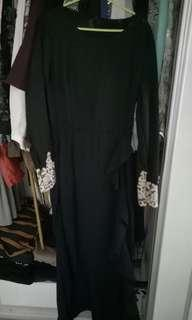 Black Dress Jubah Maxi