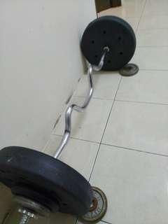 Dumbbell/Extreme EZ Curl BARBELL