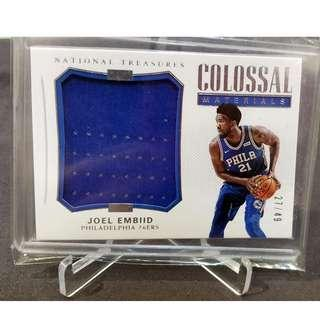 Joel Embiid 2017-18 NT Colossal Materials 27/49