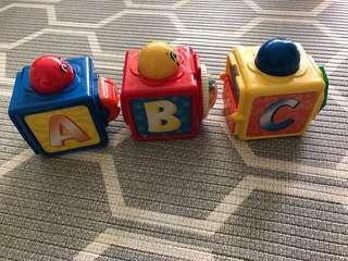 Baby Toys fisher price A B C cubes