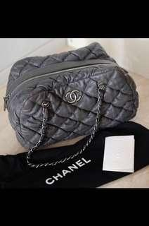 Chanel Iridescent Bubble Qulited Bowler Bag