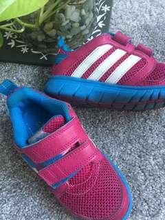 Adidas rubber shoes (for girls 3-4 years old), US 10.5