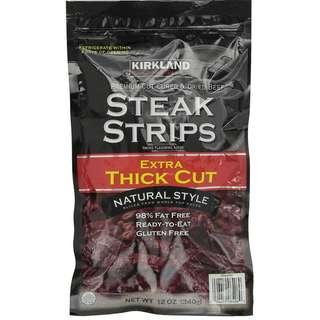 🚚 In Stock Kirkland Signature Steak Strips Extra Thick Cut 12oz(340g)