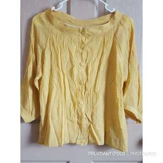 Yellow office blouse