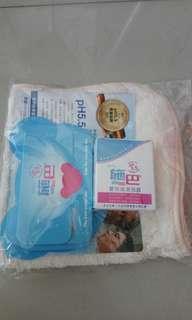 🚚 施巴嬰兒沐浴護膚旅行組+浴巾【全新】