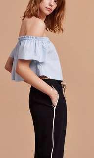 Aritzia Wilfred poplin blouse xs