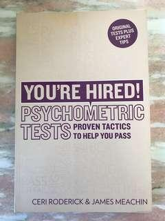 You're Hired! Psychometric Tests by Ceri Roderick and James Meachin