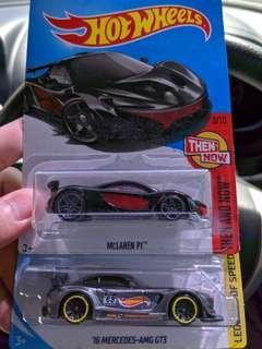 Hot Wheels AMG and Mclaren p1