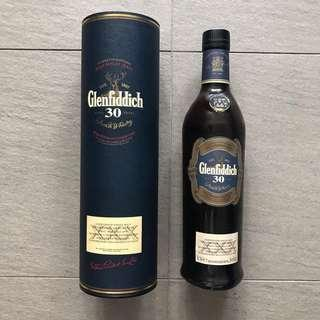 Vintage Glenfiddich 30 Year Old Single Malt 70CL