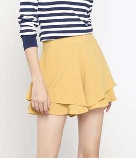 TWL Khloe Layered Shorts in Mustard