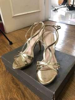 Charles and Keith - Gold Heels