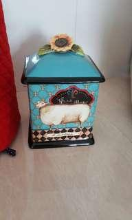 Certified International Ceramic Sheep Canister