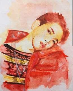 Watercolour Portrait Painting service