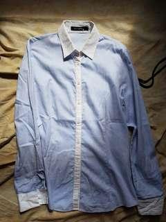 g2000 woman blue office shirt