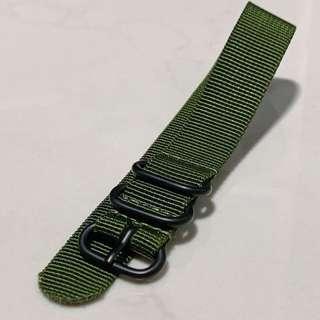 🚚 Khaki Green Zulu Strap (20mm)
