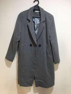 Grey Korean Coat
