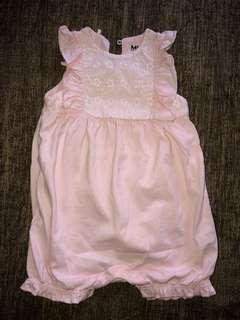 Newborn Baby Girl Lace Top Romper 0-3 Months