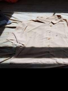 creme blouse shirt