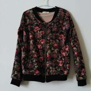🚚 玫瑰花刷毛外套 #一百均價