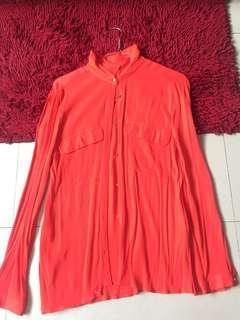 Zara red-orange top