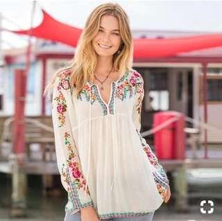 Top embordyr Zara ,ref pemakaian
