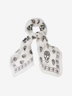 Alexander McQueen Skull Scarf (White)