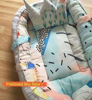 Baby Nest + Pillow (PRELOVED LIKE NEW)