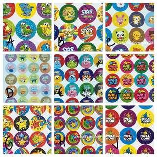 🚚 (Instock) Cute Student Reward Stickers for Teachers