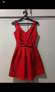 Miss Selfridge Red Bow Dress