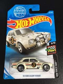 🚚 '70 Ford escort rs1600 hotwheels