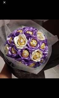 🚚 Valentines day for Her for Him chocolate flower ferrero rocher flower bouquet