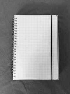 a5 transparent grid notebook (avail for po!!)