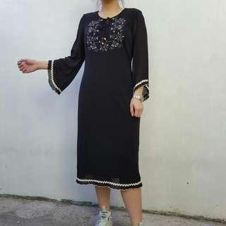 Black Boho Chic Dress
