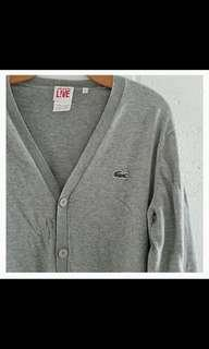 Lacoste Authentic LIVE cardigan sweater / jacket button down