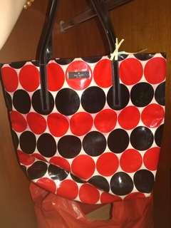 Kate spade tote bag (red & black polka dot)