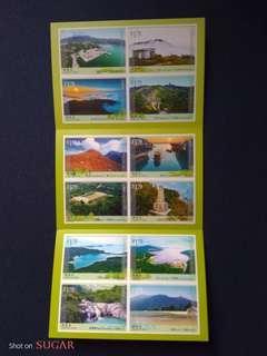 香港2016-香港行山徑系列第一號:小本子(自動黏貼郵票)