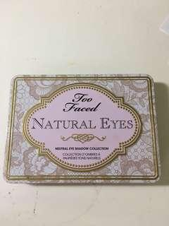 Natural eyes too faced eyeshadow palette