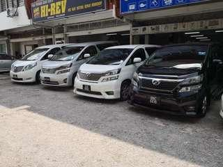 Toyota MPV for rent
