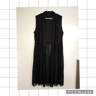 Sleeveless Black Blazer