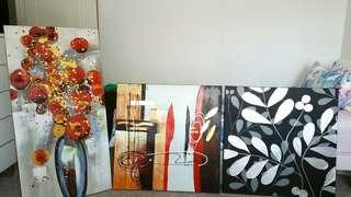3 canvas all for $ 15
