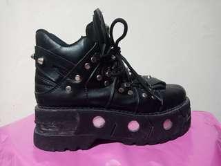 Newrock palsu sepatu wanita flatshoes